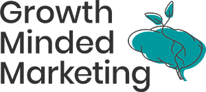 growth minded marketing logo - black