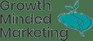growth minded marketing logo - black