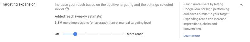display targeting expansion