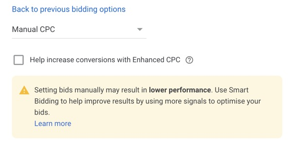 manual cpc targeting