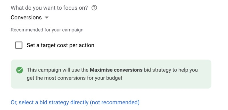 maximise conversions