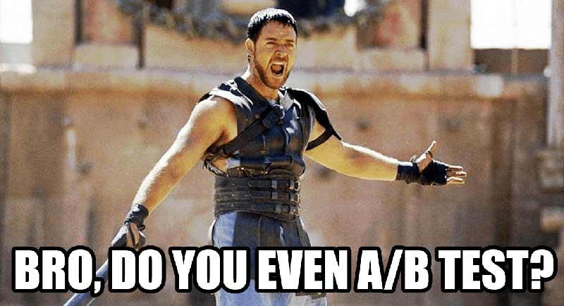 do you a/b test