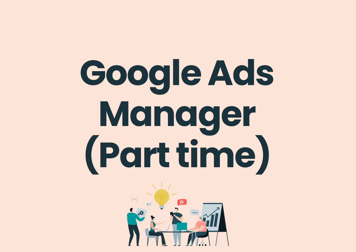 google ads manager part time job